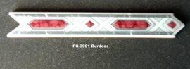 PC-3001 Burdeos csempedekor-listelo