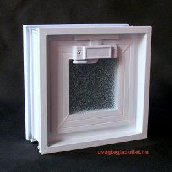 műanyag üvegtégla ablak 1-es;üvegtégla szellőző ablak müanyag;