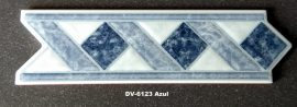 DV-6123 Azul csempedekor-listelo