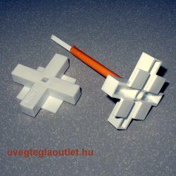 Üvegtégla fugakereszt állítható 65-95x10mm újrahasználható