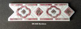 DK-606 Burdeos csempedekor-listelo