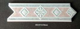 DK-6114 Rosa csempedekor-listelo