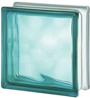 türkiz szinű üvegtégla