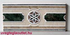 Denia Verde cenefa csempe dekor OUTLET termék
