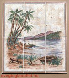 Palms/6 68x60cm méretű csempe kép