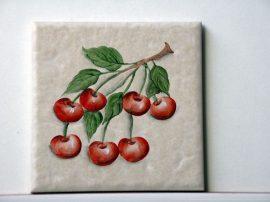 """10x10cm méretű csempe kép """"Cseresznye"""""""