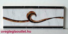 Sueca Gris cenefa csempe dekor OUTLET termék