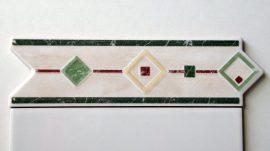 6027 Verde csempe dekor OUTLET termék
